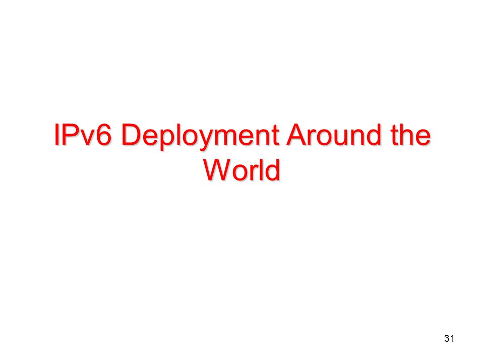 IPv6 Deployment Around the World