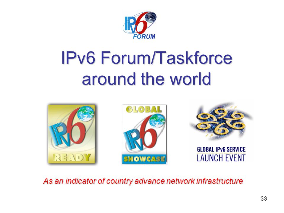 IPv6 Forum/Taskforce around the world