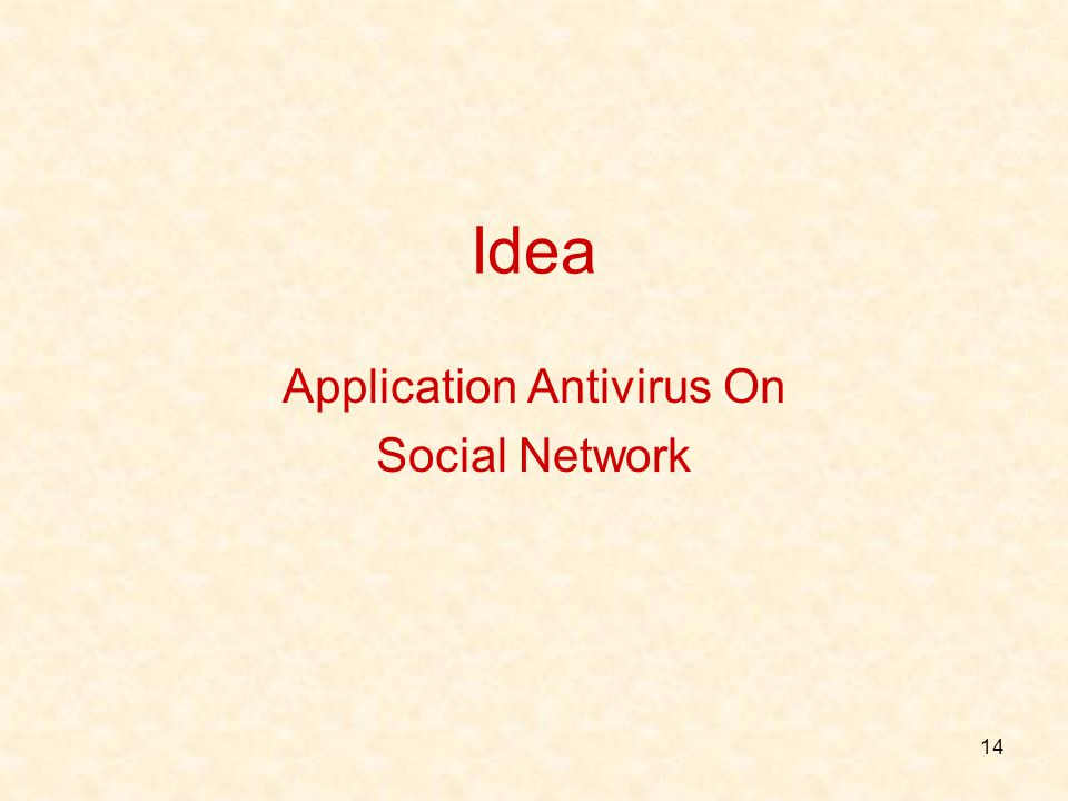 Application Antivirus On Social Network