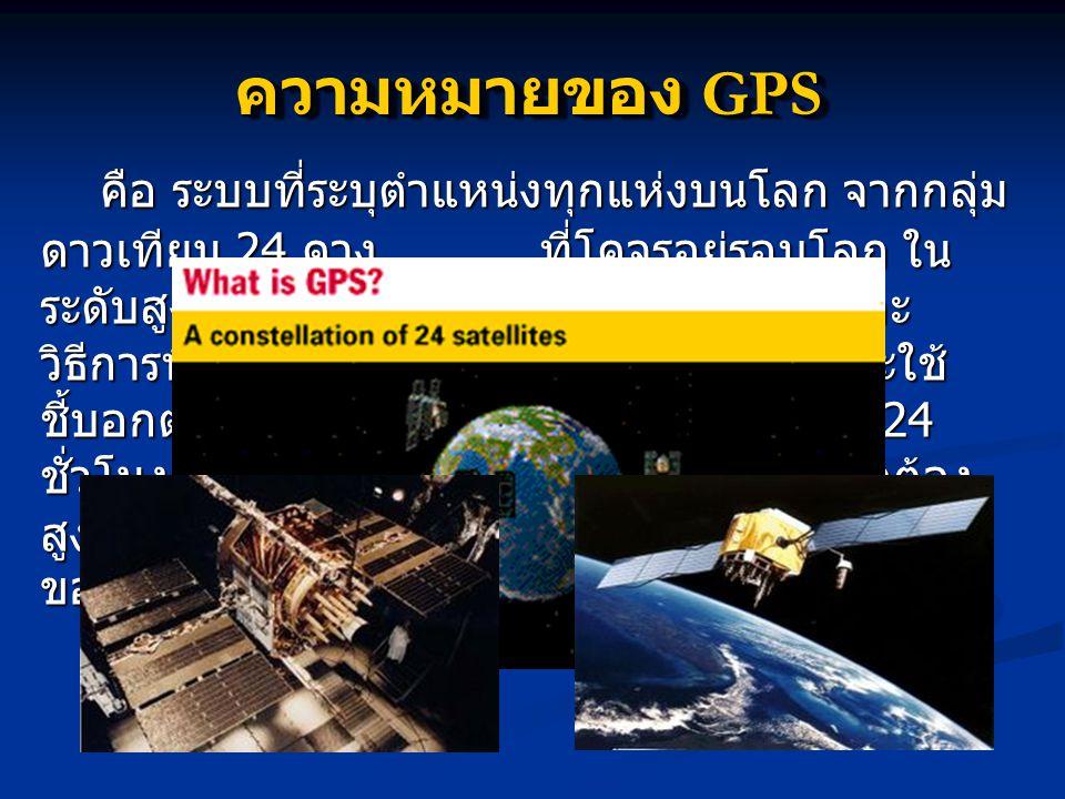 ความหมายของ GPS