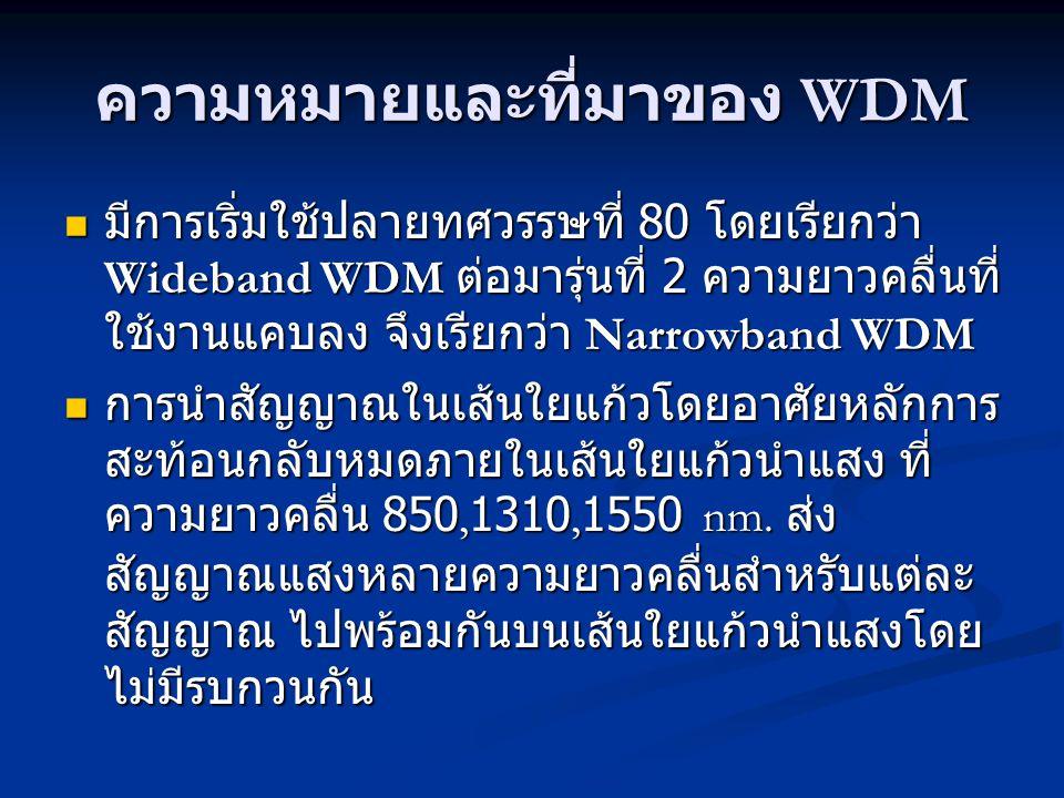ความหมายและที่มาของ WDM