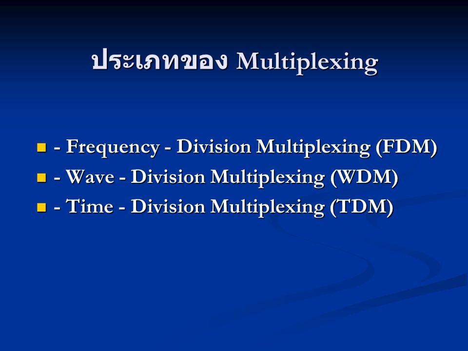 ประเภทของ Multiplexing