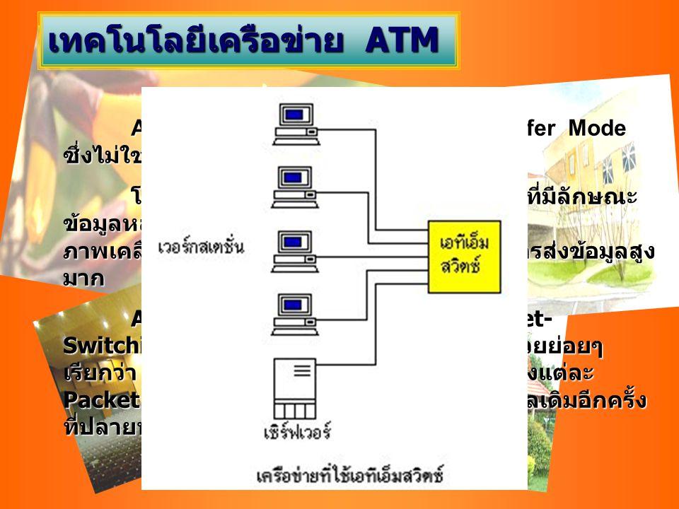 เทคโนโลยีเครือข่าย ATM