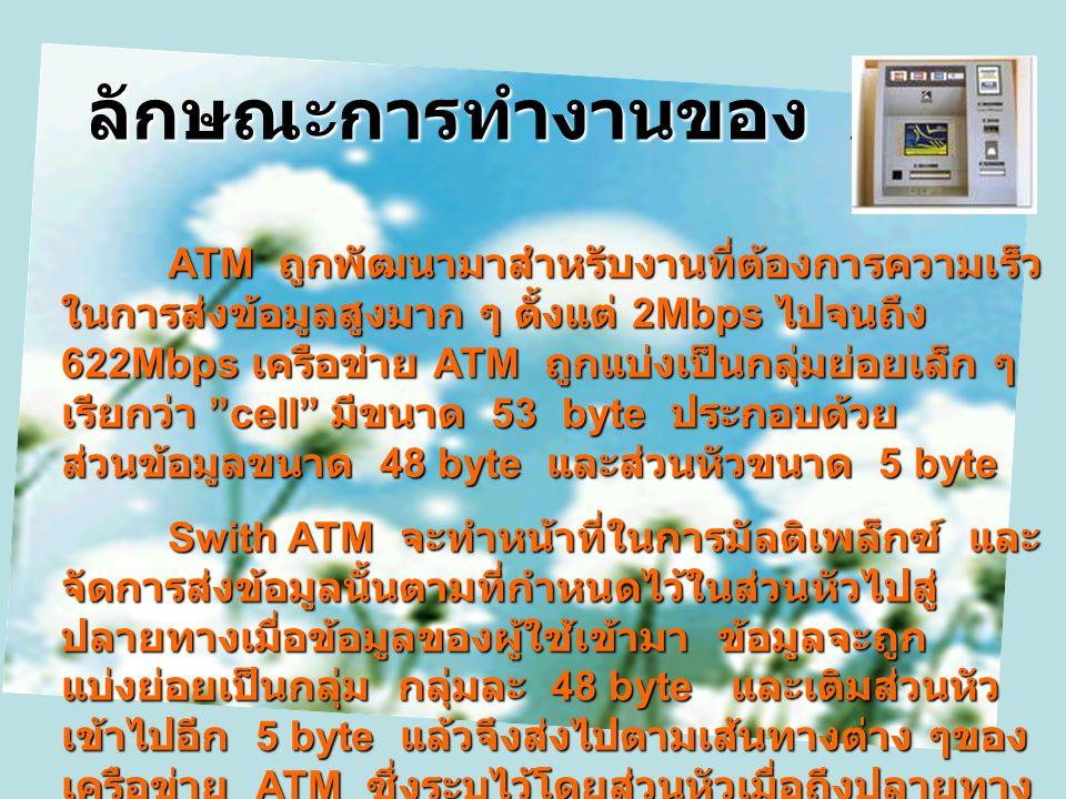 ลักษณะการทำงานของ ATM