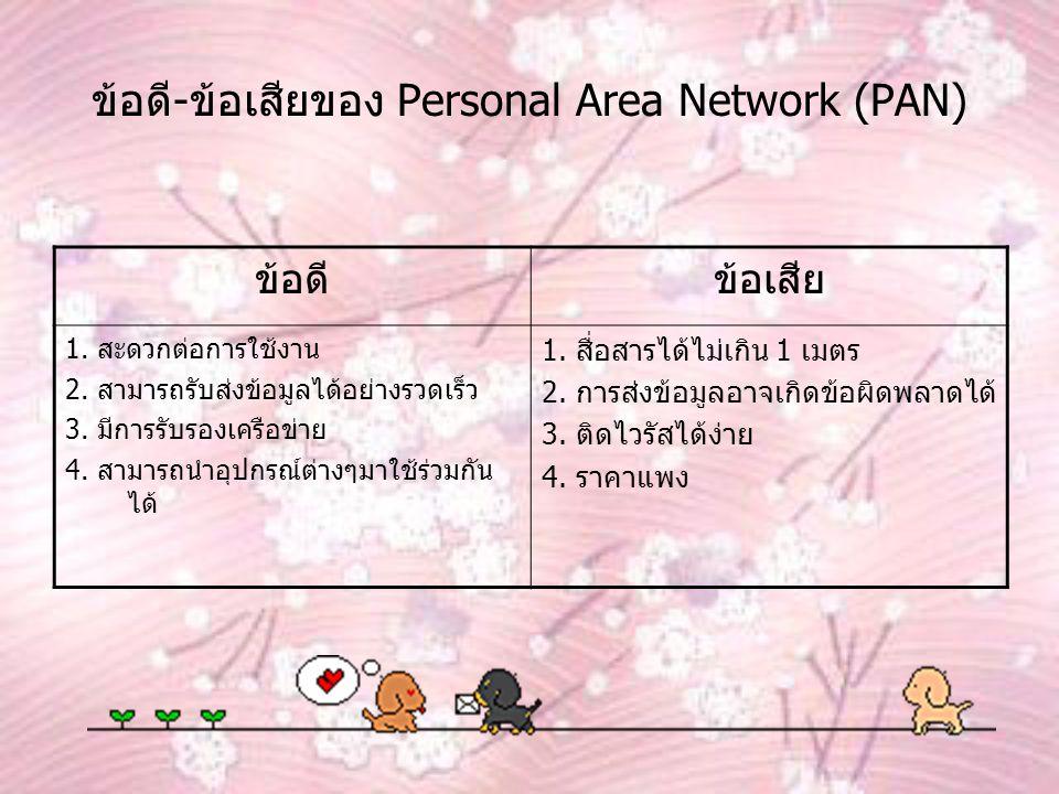 ข้อดี-ข้อเสียของ Personal Area Network (PAN)