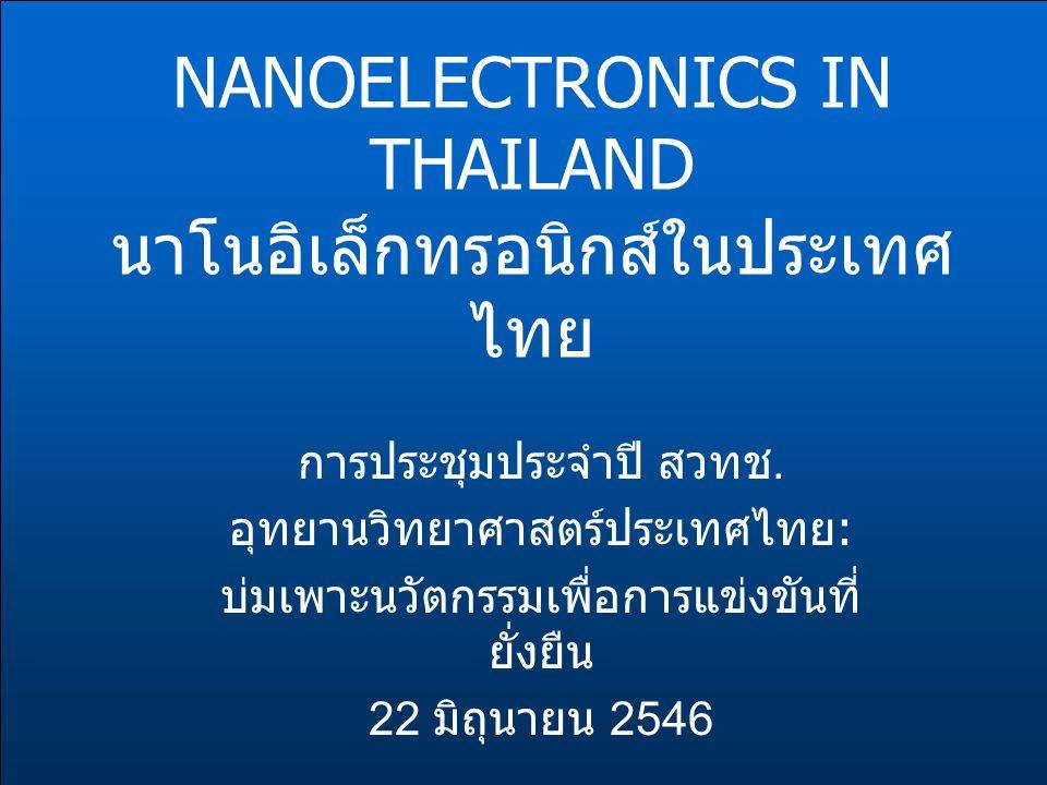 NANOELECTRONICS IN THAILAND นาโนอิเล็กทรอนิกส์ในประเทศไทย