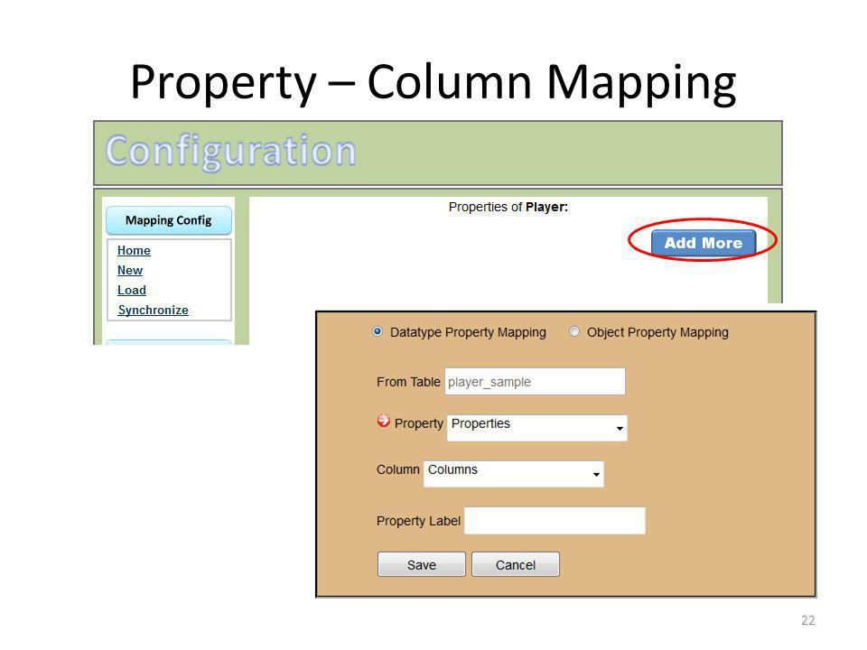 Property – Column Mapping