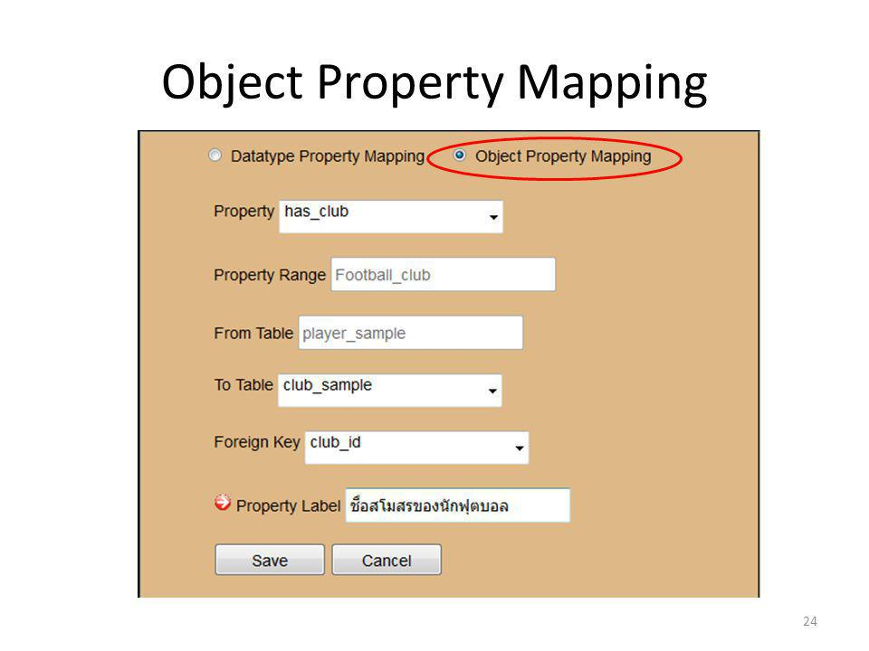 Object Property Mapping