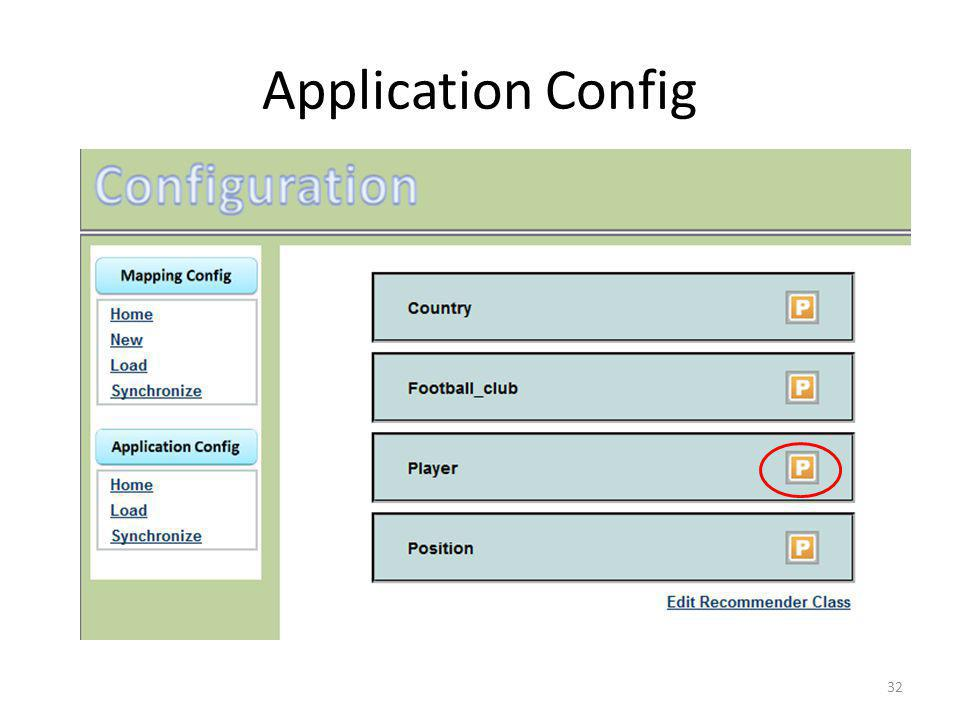 Application Config