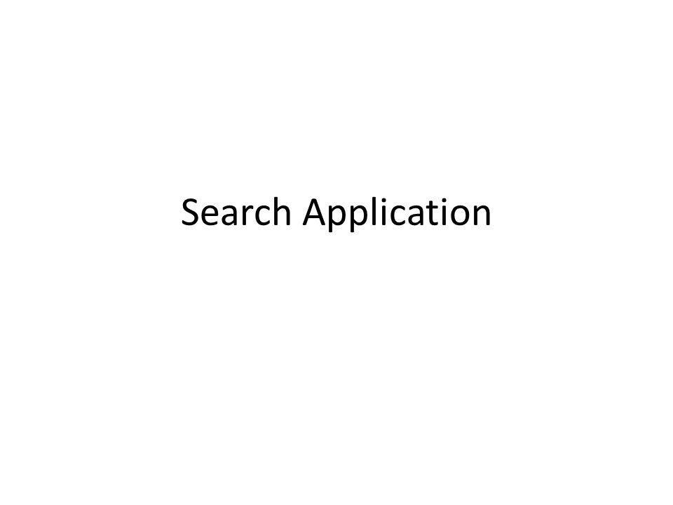 Search Application