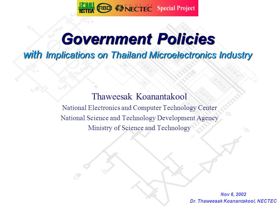 Dr. Thaweesak Koanantakool, NECTEC