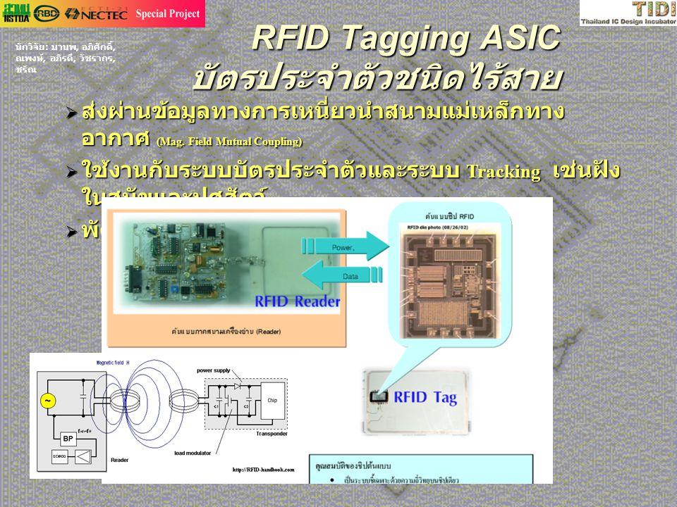 RFID Tagging ASIC บัตรประจำตัวชนิดไร้สาย