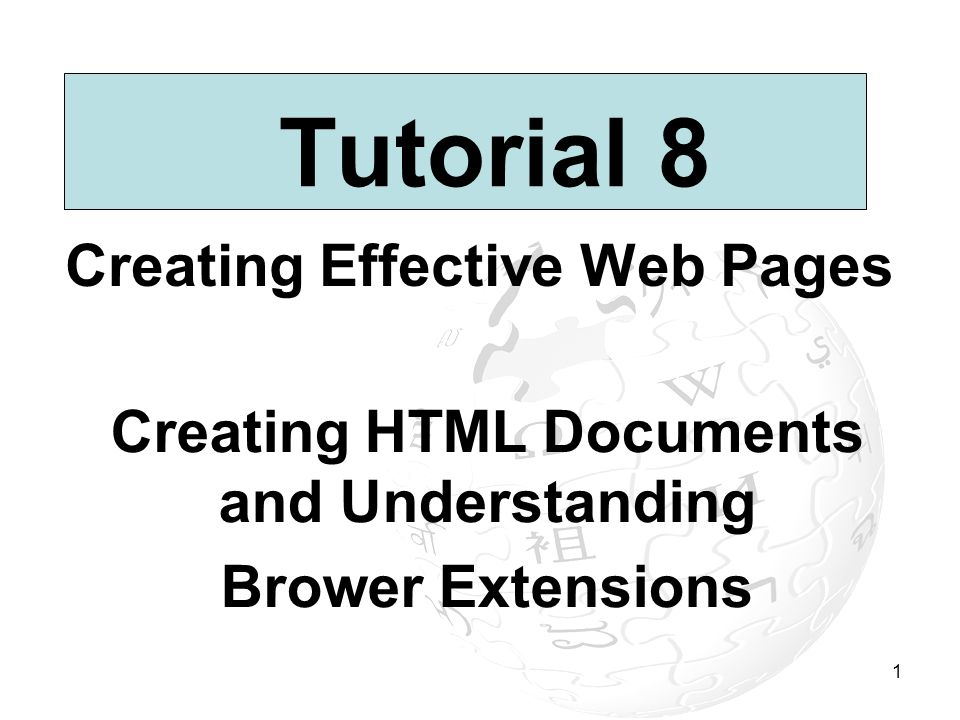 Creating Effective Web Pages