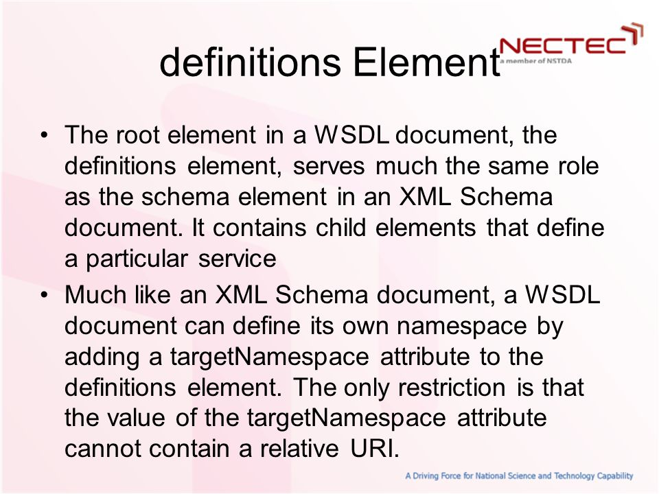 definitions Element