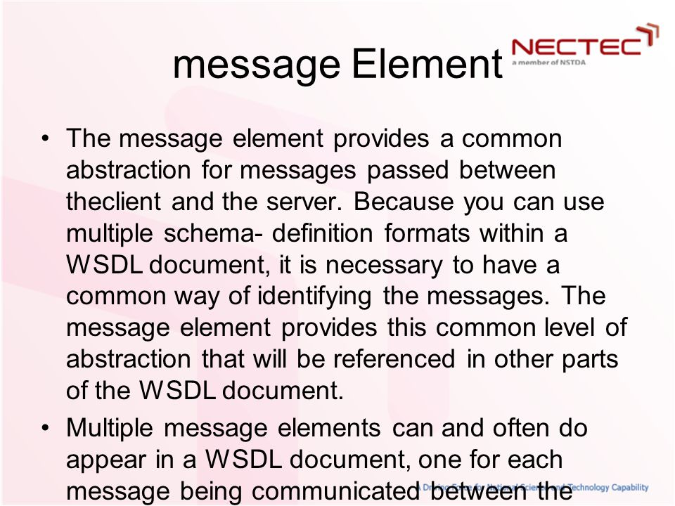 message Element