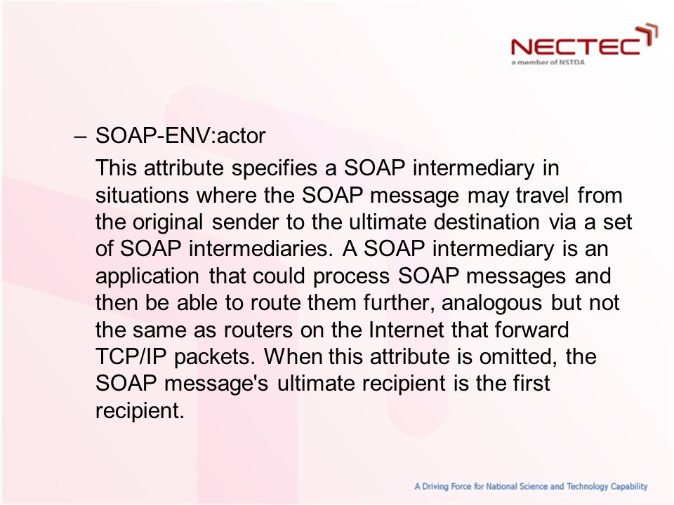 SOAP-ENV:actor