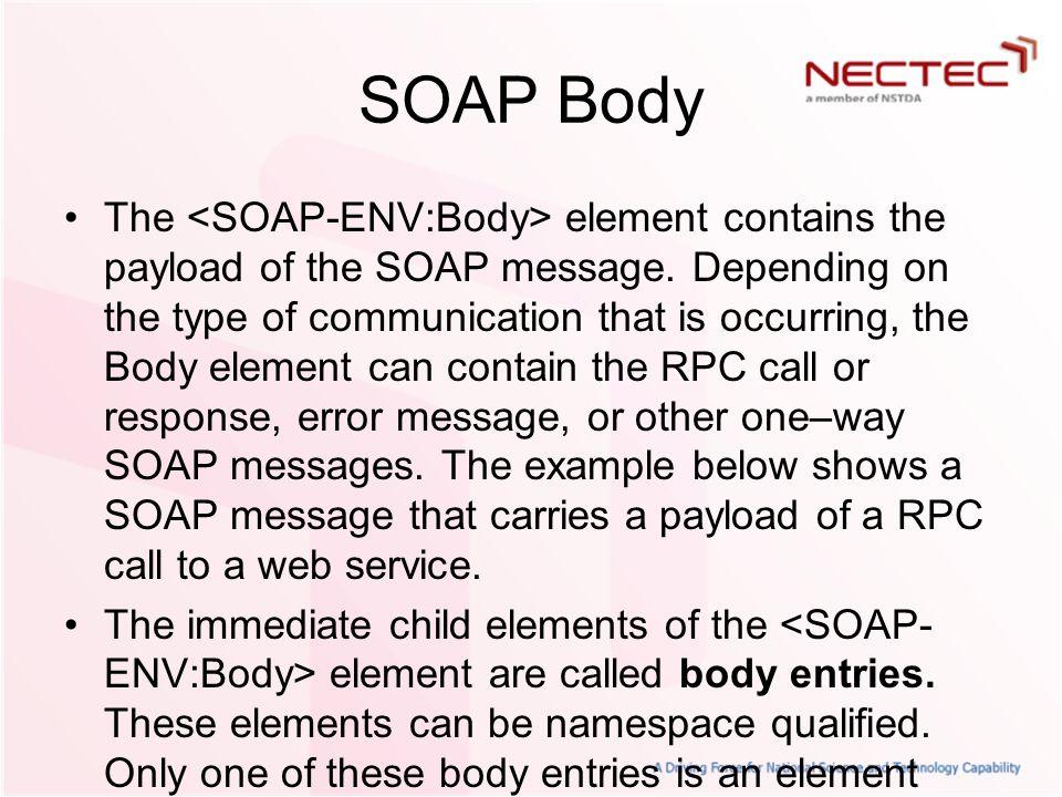 SOAP Body