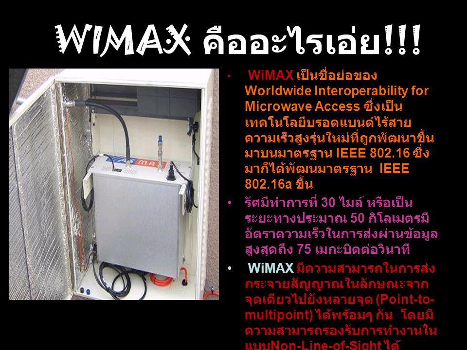 WIMAX คืออะไรเอ่ย!!!