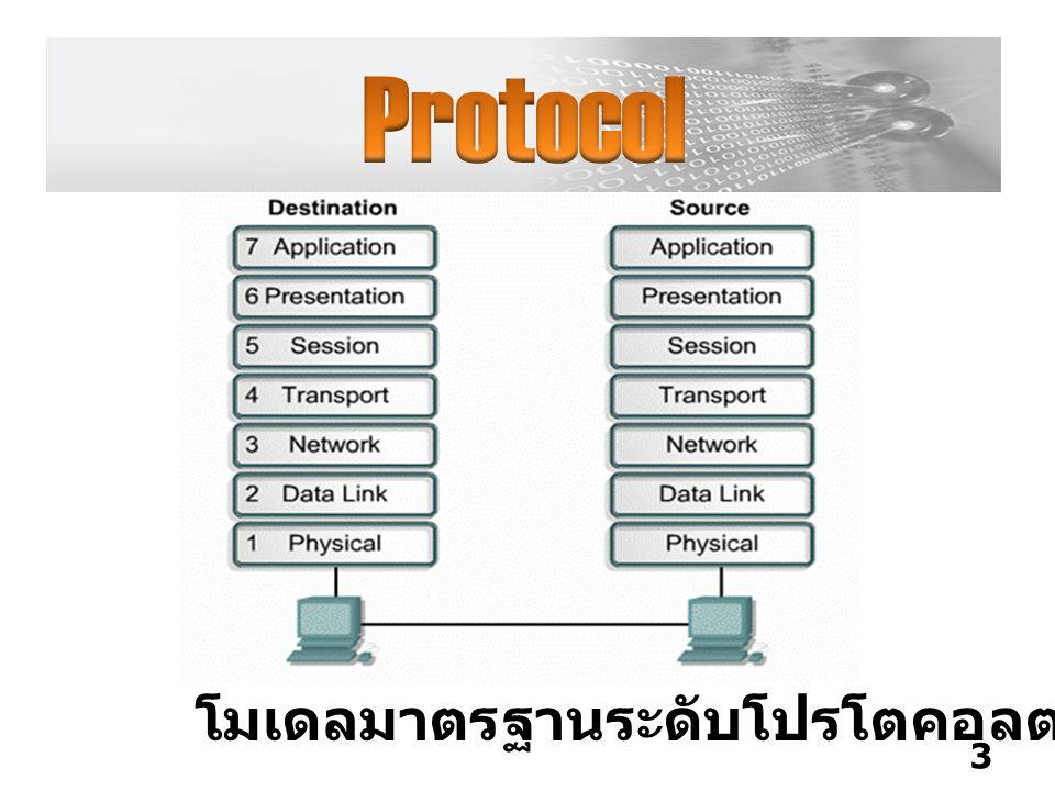 Protocol โมเดลมาตรฐานระดับโปรโตคอลตาม OSI