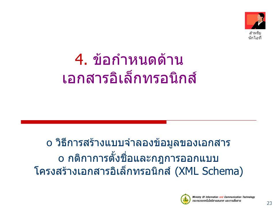 4. ข้อกำหนดด้าน เอกสารอิเล็กทรอนิกส์