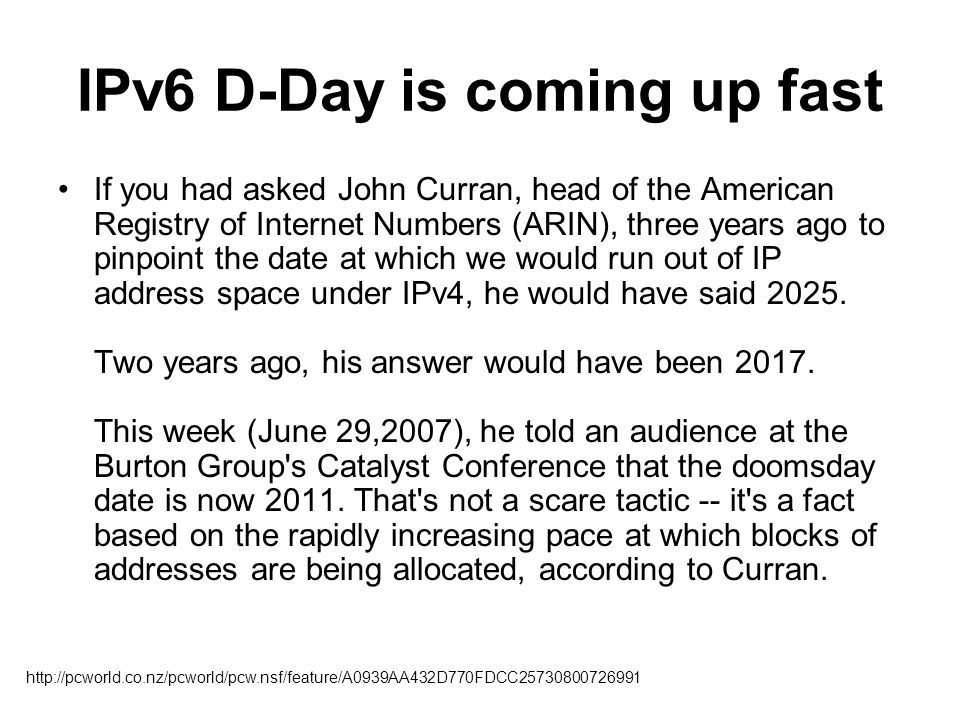 IPv6 D-Day is coming up fast