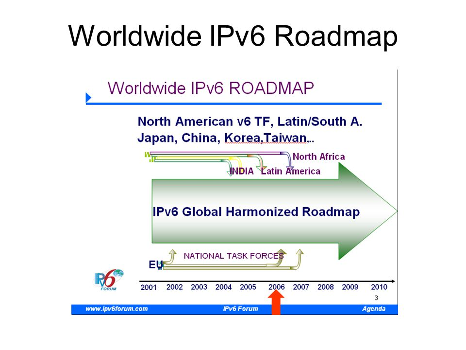 Worldwide IPv6 Roadmap