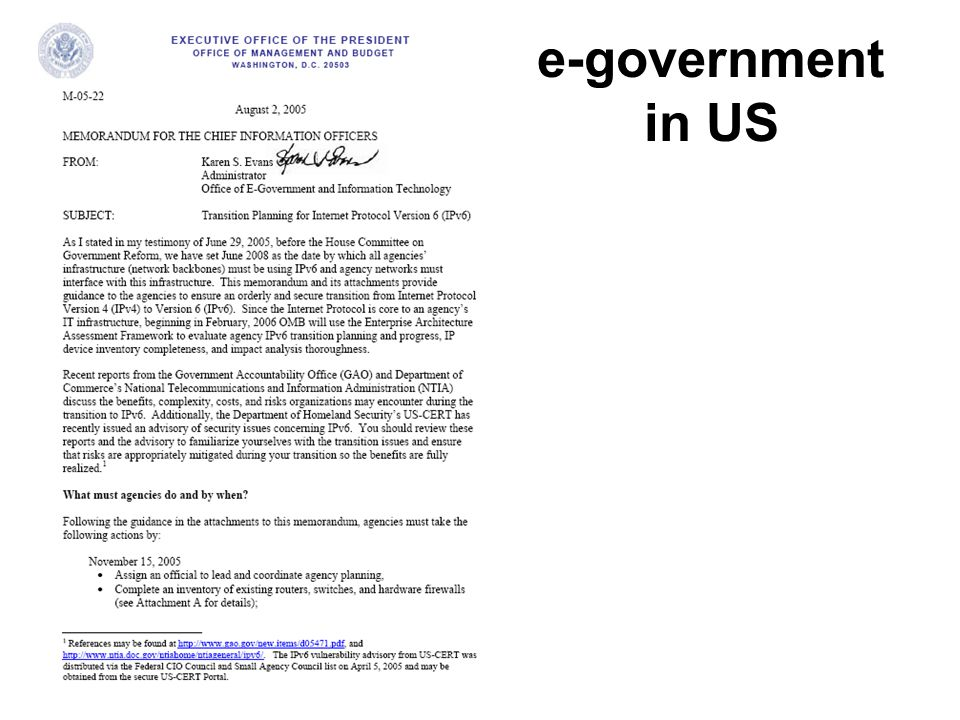 e-government in US