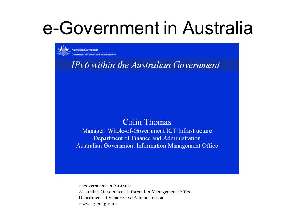 e-Government in Australia
