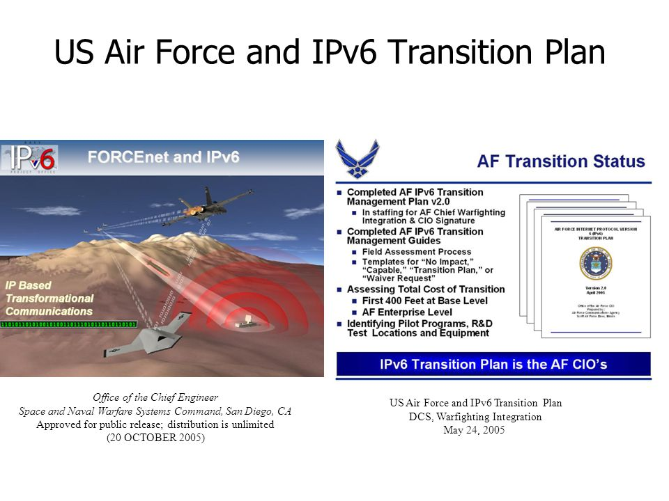 US Air Force and IPv6 Transition Plan