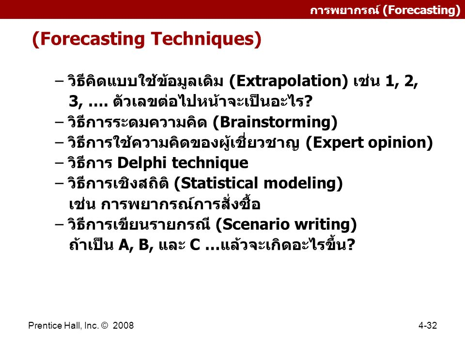 (Forecasting Techniques)