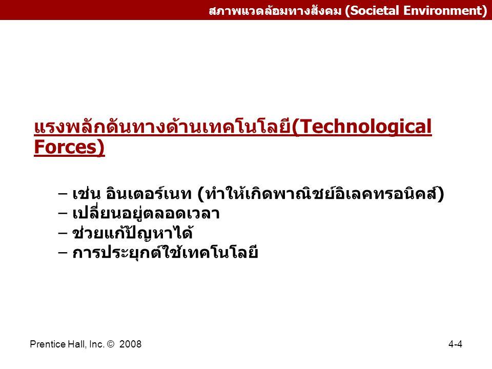 แรงพลักดันทางด้านเทคโนโลยี(Technological Forces)
