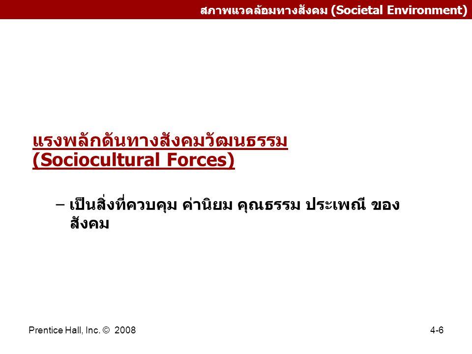 แรงพลักดันทางสังคมวัฒนธรรม (Sociocultural Forces)