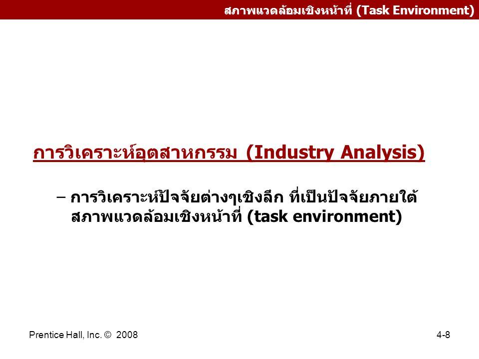การวิเคราะห์อุตสาหกรรม (Industry Analysis)