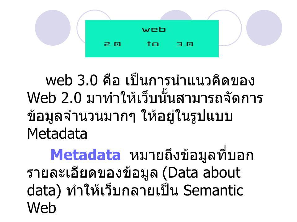 web 3. 0 คือ เป็นการนำแนวคิดของ Web 2