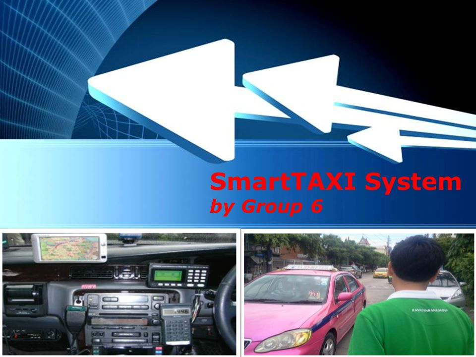 SmartTAXI System by Group 6 Powerpoint Templates