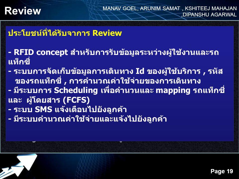 Review MANAV GOEL, ARUNIM SAMAT , KSHITEEJ MAHAJAN ,DIPANSHU AGARWAL.