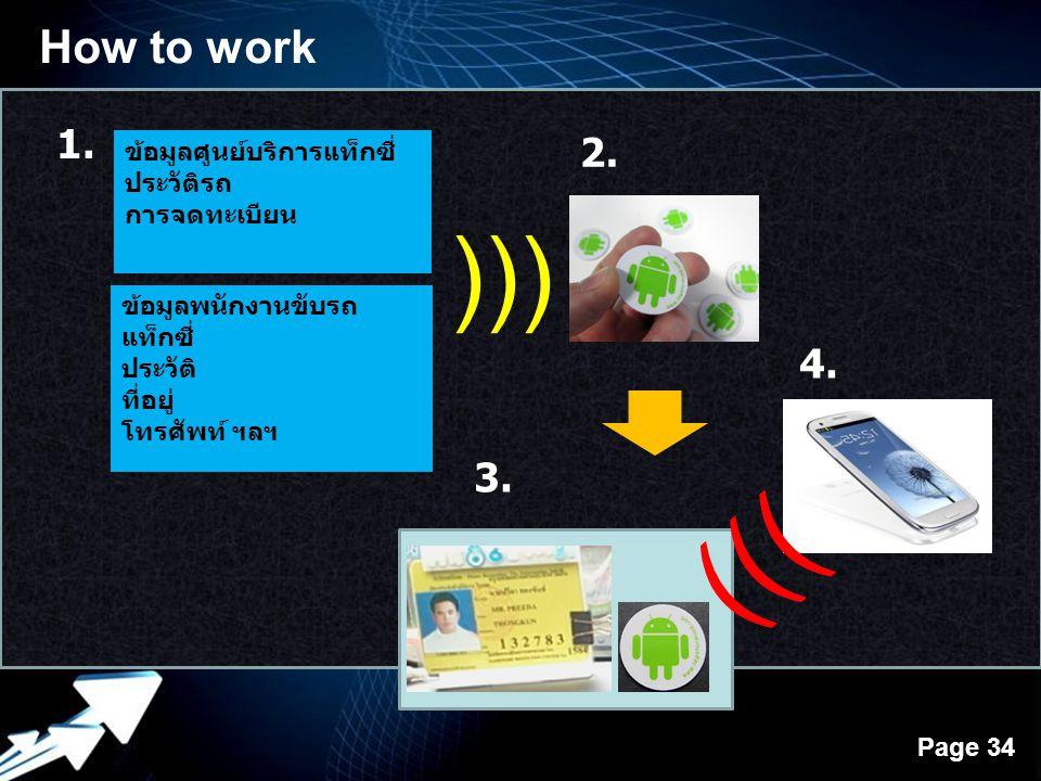 ))) ))) How to work 1. 2. 4. 3. ข้อมูลศูนย์บริการแท็กซี่