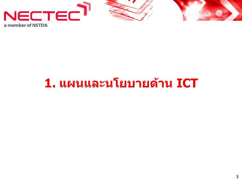 1. แผนและนโยบายด้าน ICT