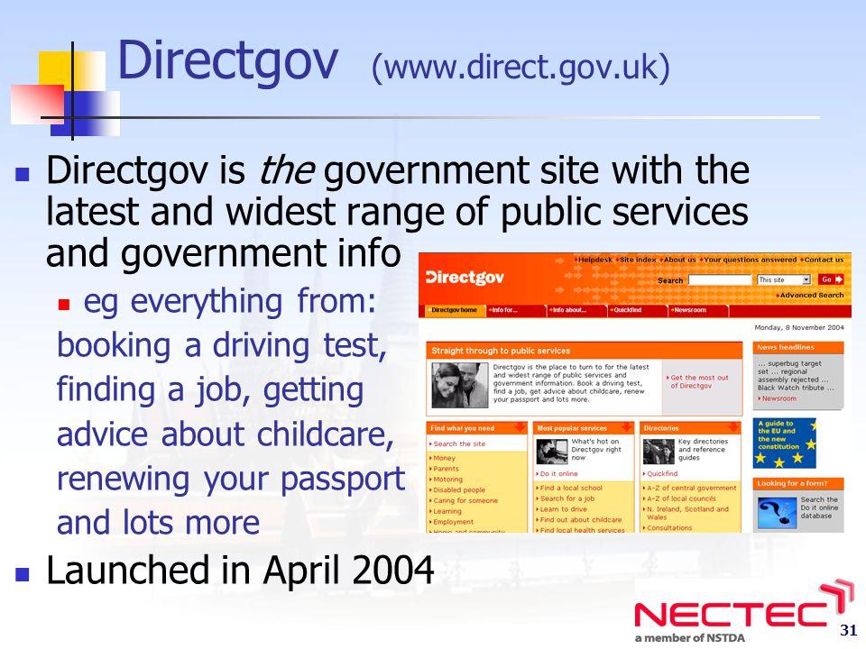 Directgov (www.direct.gov.uk)
