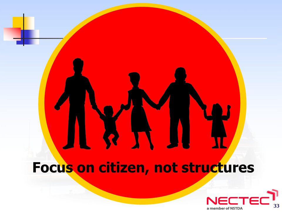 Focus on citizen, not structures