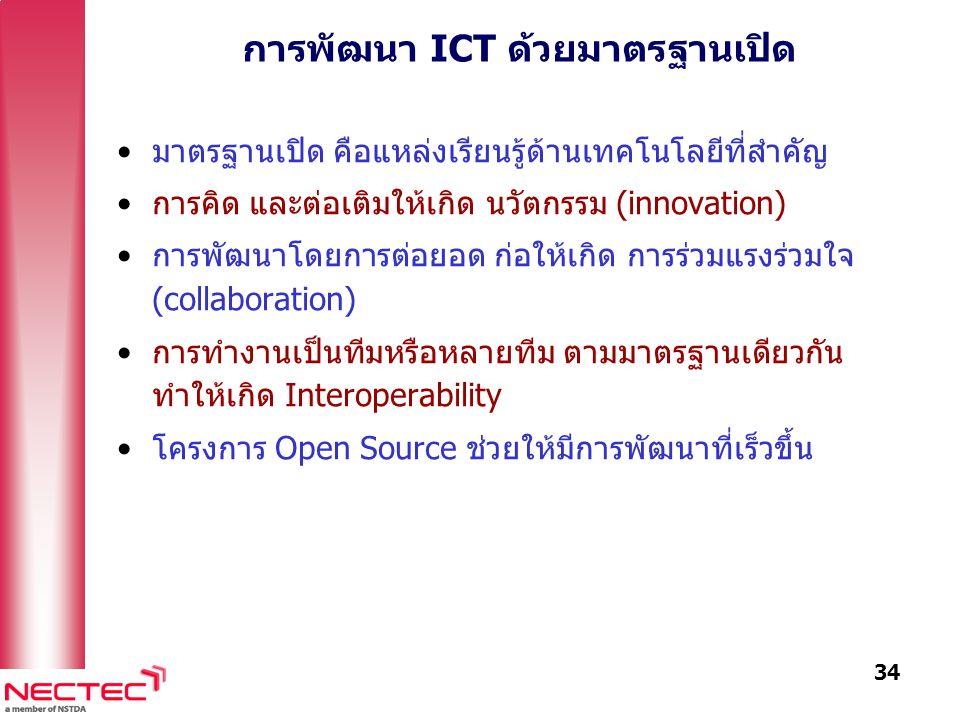 การพัฒนา ICT ด้วยมาตรฐานเปิด