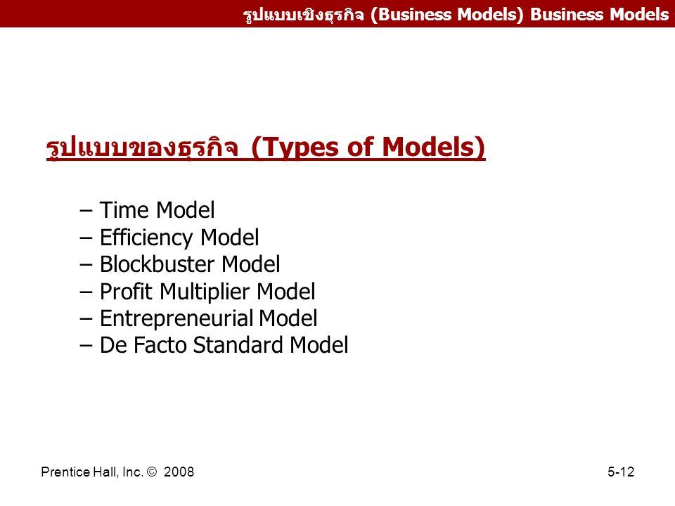 รูปแบบของธุรกิจ (Types of Models)