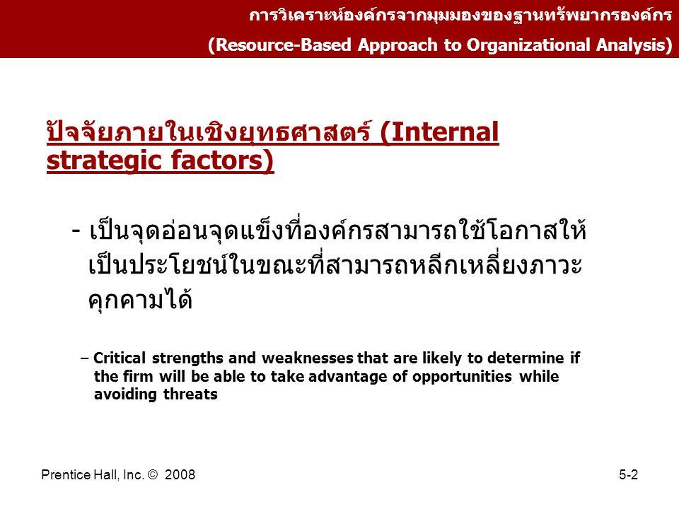 ปัจจัยภายในเชิงยุทธศาสตร์ (Internal strategic factors)