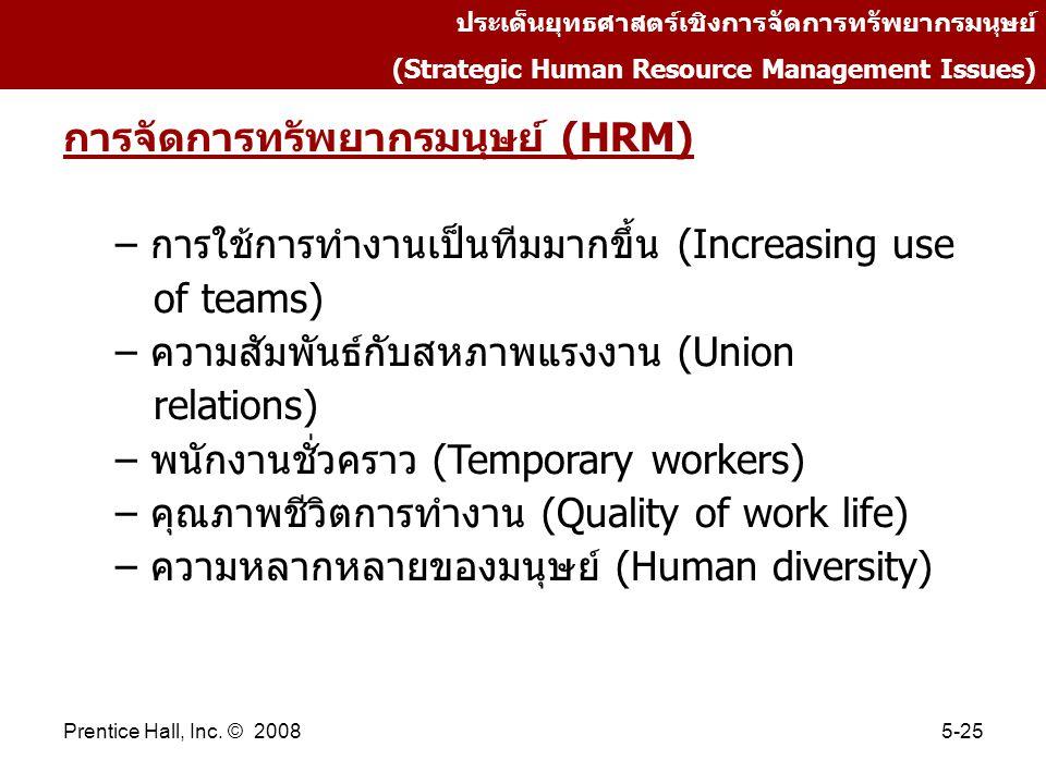 การจัดการทรัพยากรมนุษย์ (HRM)