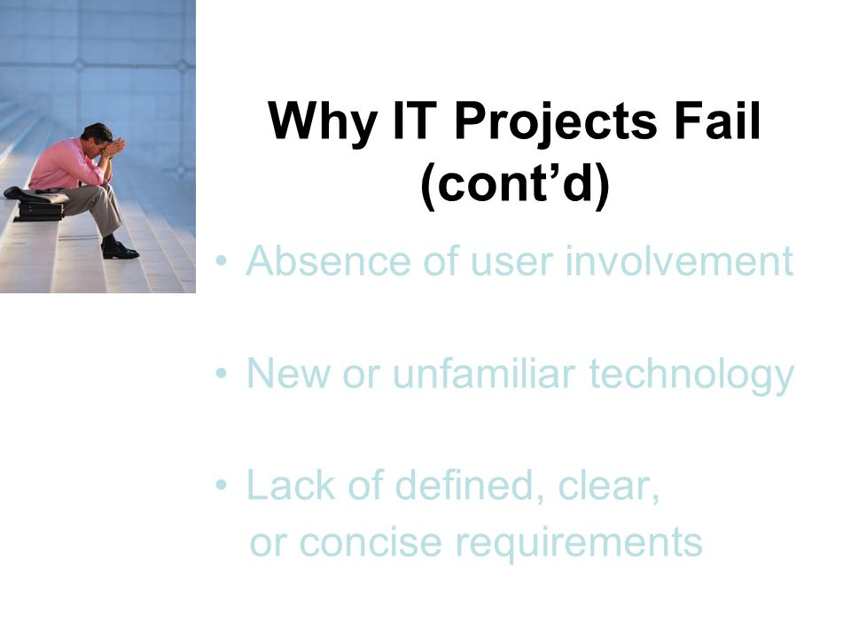 Why IT Projects Fail (cont'd)