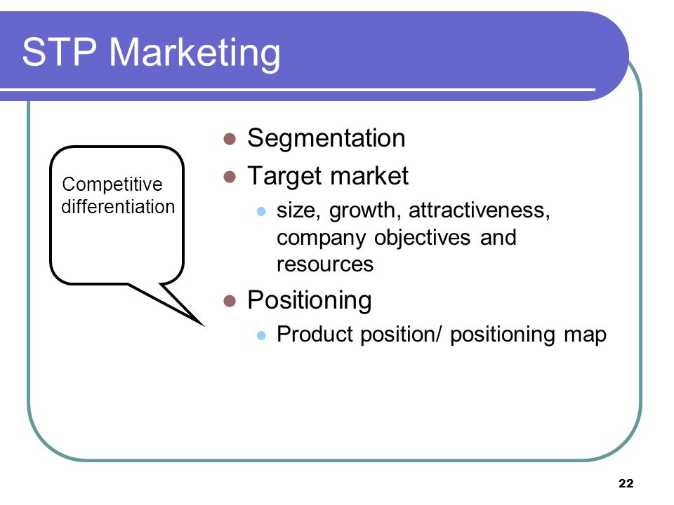 STP Marketing Segmentation Target market Positioning
