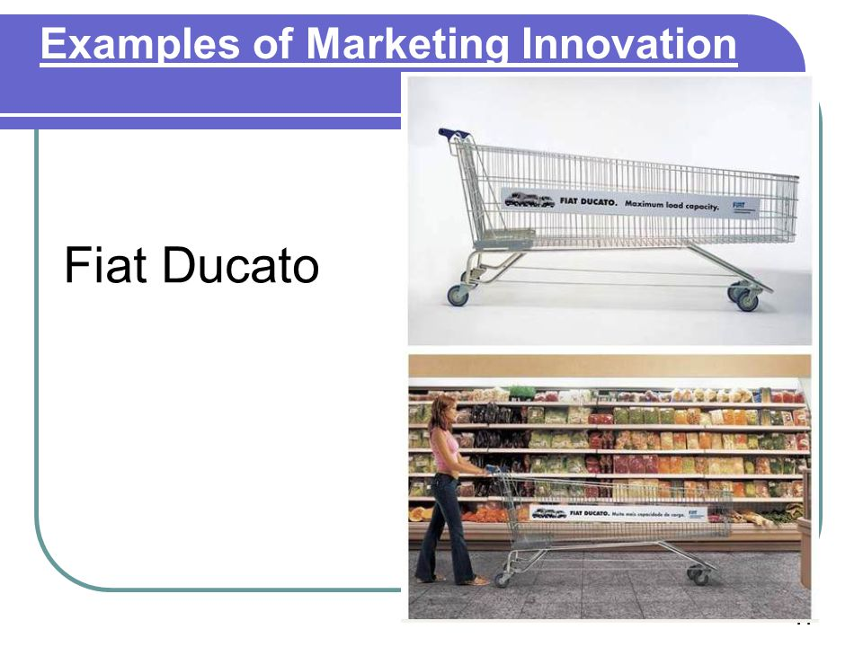 Examples of Marketing Innovation