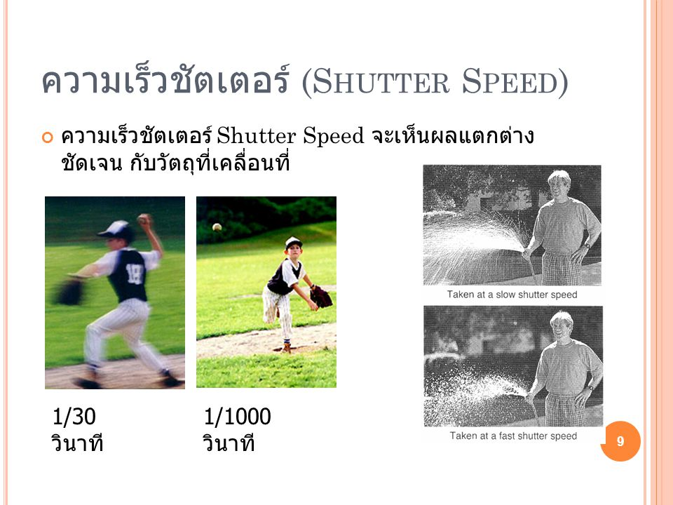 ความเร็วชัตเตอร์ (Shutter Speed)