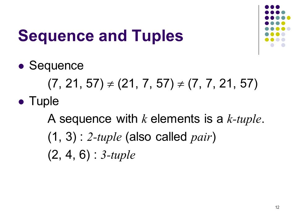 Sequence and Tuples Sequence