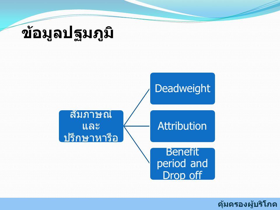 ข้อมูลปฐมภูมิ สัมภาษณ์ และปรึกษาหารือ Deadweight Attribution